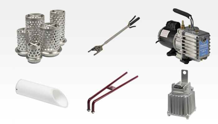 Neutec Accessories   Neutec® casting accessories, including flasks, flask tongs, cooling jars, vacuum pumps and more, are made with quality workmanship and materials to increase the convenience and effectiveness of your casting processes; they are available to order anytime from riogrande.com. Click on any of the products shown below to go directly to Rio Grande to shop and order the accessories you need for your casting operation.