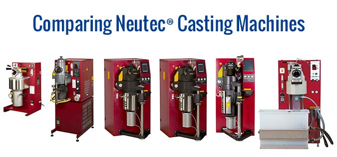 This is a convenient side-by-side comparison chart offers you a quick look at the Neutec casting equipment from Rio Grande.