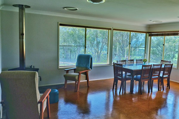Copy of Copy of Waterfall Way Farmstay — spacious living area with beautiful views