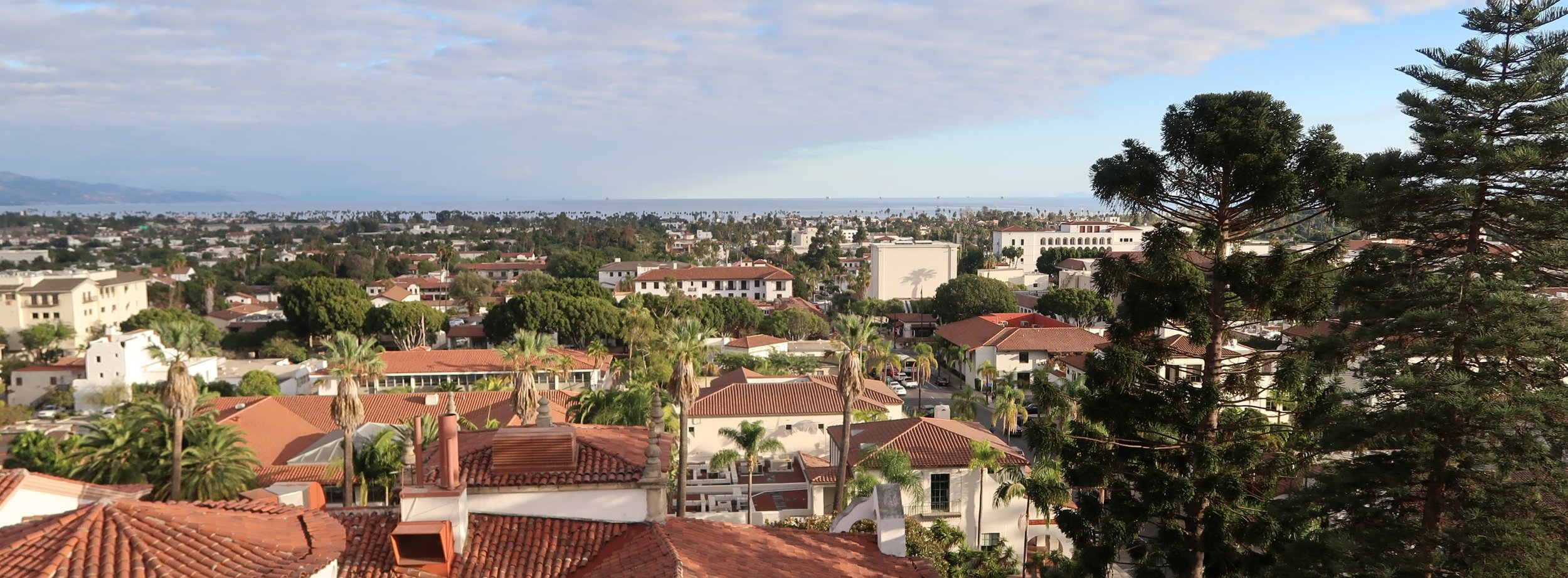Downtown Santa Barbara is about 17 min drive from campus  (photo by our own George Tzimpragos)