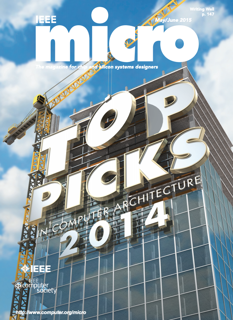 ORIGINAL RACE LOGIC PAPER IS ONE OF 12 ARTICLES FEATURED IN IEEE MICRO TOP PICKS  FOR 2014[
