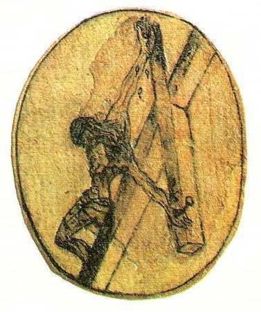 Cristo pintado por San Juan de la Cruz