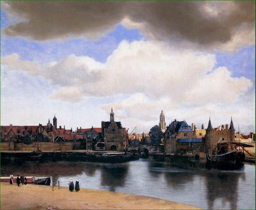 """Vista de Delft"" (1661) Johannes Vermeer. Mauristshuis La Haya."