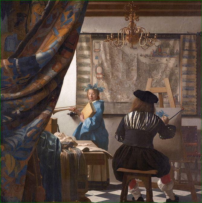 """""""El arte de la pintura"""" (1666) Johannes Vermeer. Museo de Historia del Arte de Viena."""