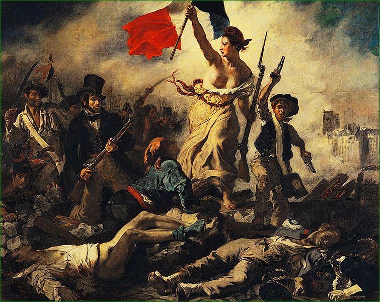"""""""La Libertad guiando al pueblo """"(1830) Eugène Delacroix (1798-1863)"""