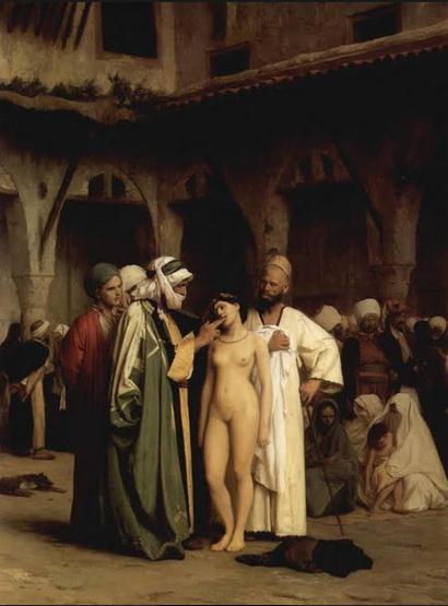 Mercado de esclavos (1866) Jean-Léon Gerôme (1824-1904)