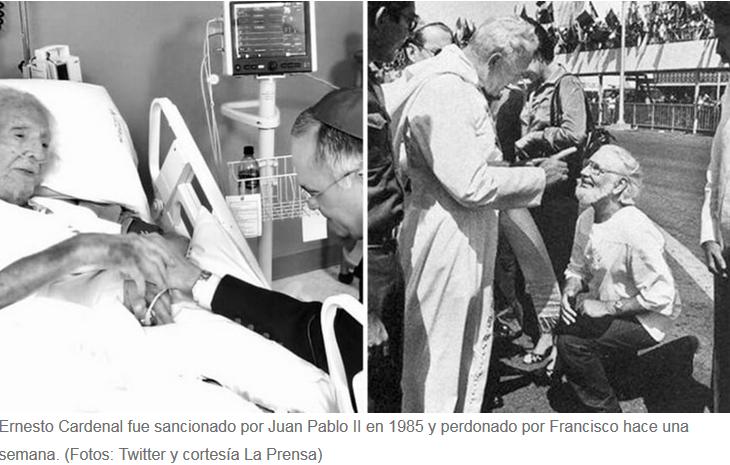 ERNESTO CARDENAL sancionado por Juan Pablo II en 1985 y perdonado por Francisco Febrero 2019-B.PNG