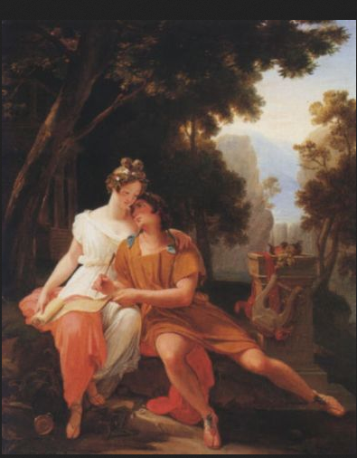 Prospercio y Cynthia. Jean Baptiste Auguste Vinchon (1789-1855)