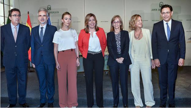 Acto de convenio con la Fundación Amancio Ortega
