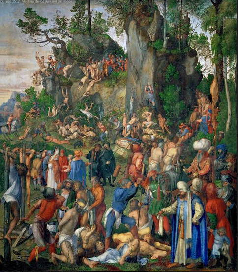 El martirio de los diez mil cristianos (1508) Alberto Durero (1471-1528) Museo de la Historia del Arte de Viena. Austria.
