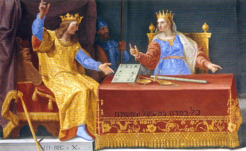 Reina de Saba. Tetractis pitagórico.