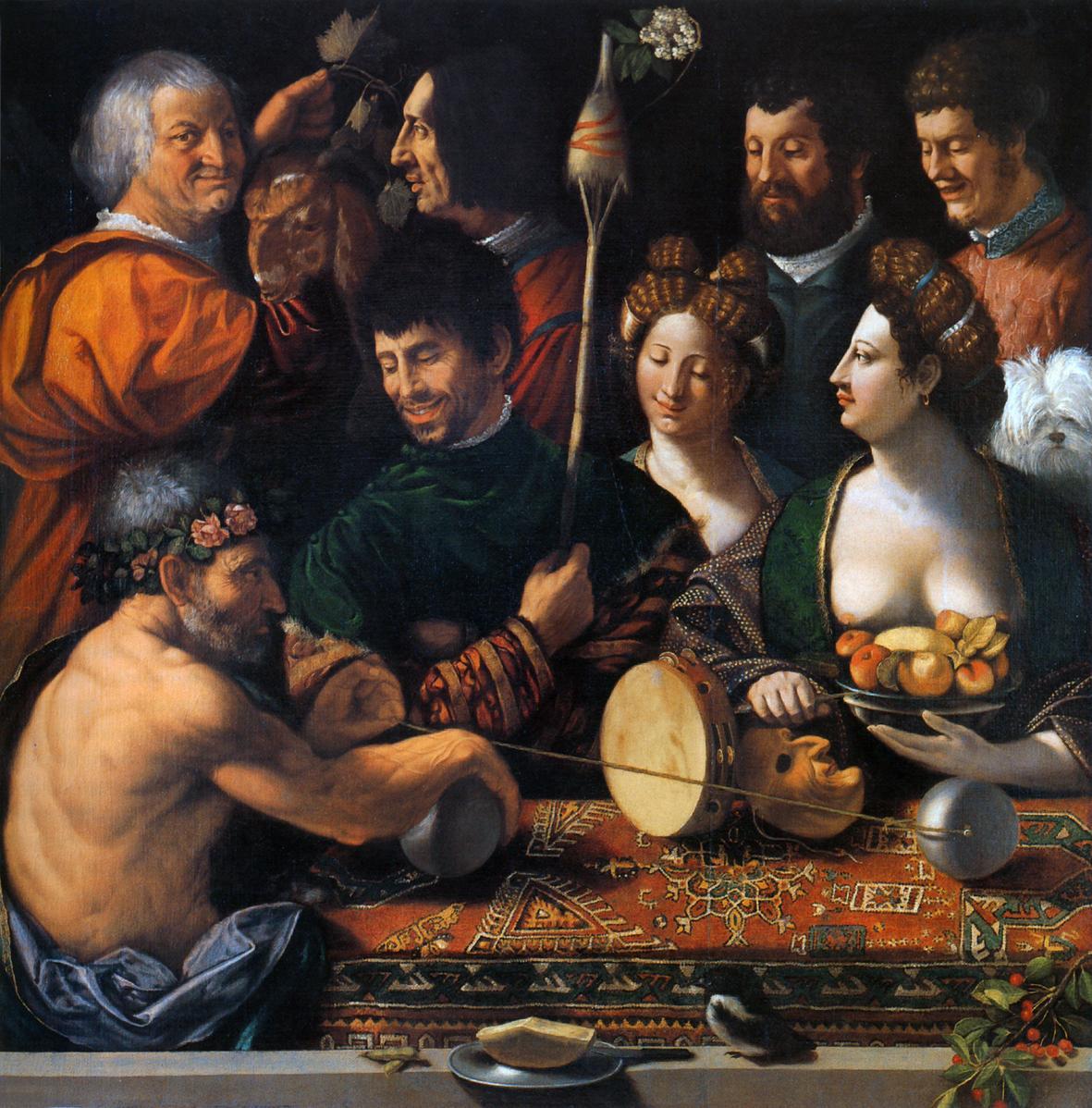 """""""Alegoría de Hércules"""" (1535) Giovanni Battista Luteri Dossi. Galleria degli Uffizi. Florencia."""