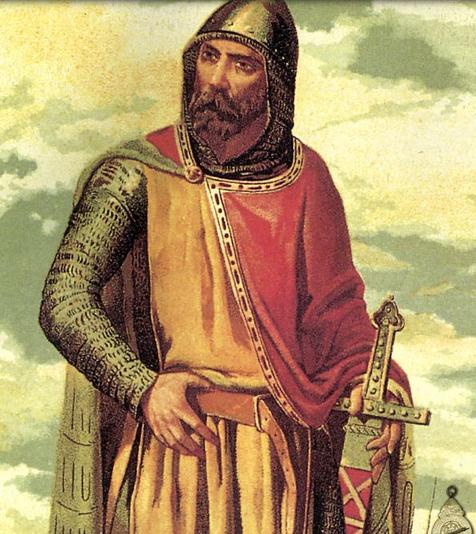 Rodrigo Díaz de Vivar. El Cid Campeador. Ilustración: Arte Historia.