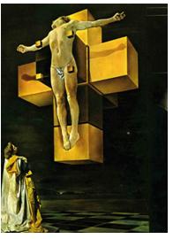 """""""Crucifixión"""" 1954 (Corpus Hypercubus) Salvador Dalí."""