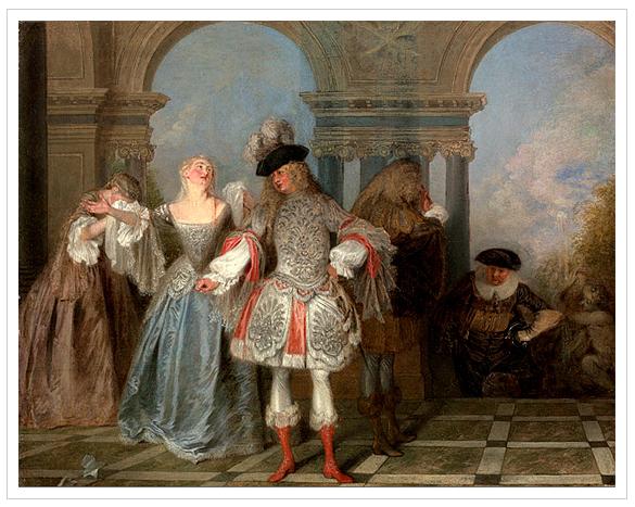 """Comediantes franceses"" (1720) Jean Antoine Watteau (1684-1721)"