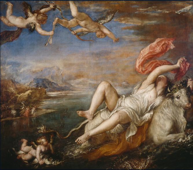 """El rapto de Europa"" (1560-1562) Tiziano Vecellio Isabella Stewart Gardner Museum, Boston."