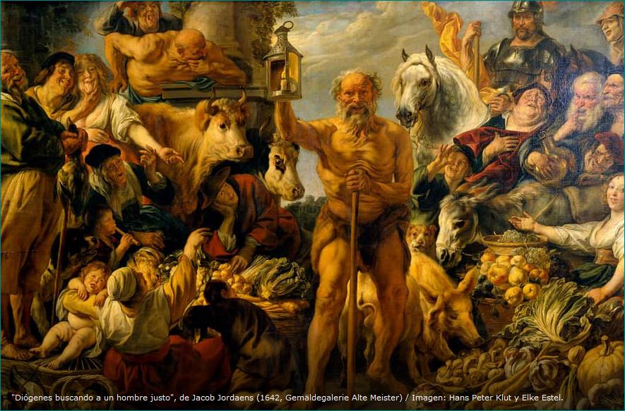 Diógenes buscando a un hombre justo, de Jacob Jordaens (1642, Gemäldegalerie Alte Meister) Imagen Hans Peter Klut y Elke Estel-0.PNG
