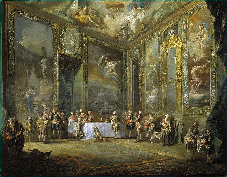 Carlos III comiendo ante su corte (1775) Luis Paret y Alcázar (1746-1799) Museo del Prado Madrid