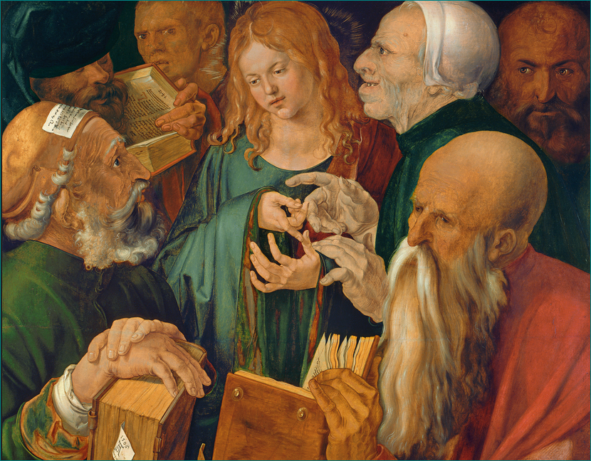 Jesús entre los doctores (1506) Alberto Durero (1471-1528) Museo Nacional Thyssen-Bornemisza, Madrid.