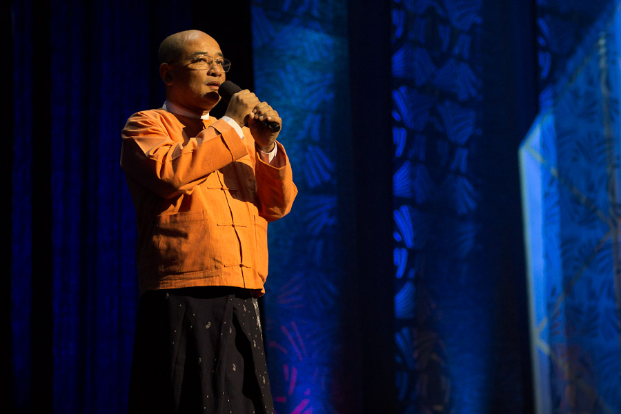 Zarganar, a Burmese comedian, was imprisoned in 2008 after criticising the government's response to Cyclone Nargis. He was released on 12 October 2011, Zarganar was released fromprison following an amnesty. He appeared on stage at the Secret Policeman's Ball in March 2012.