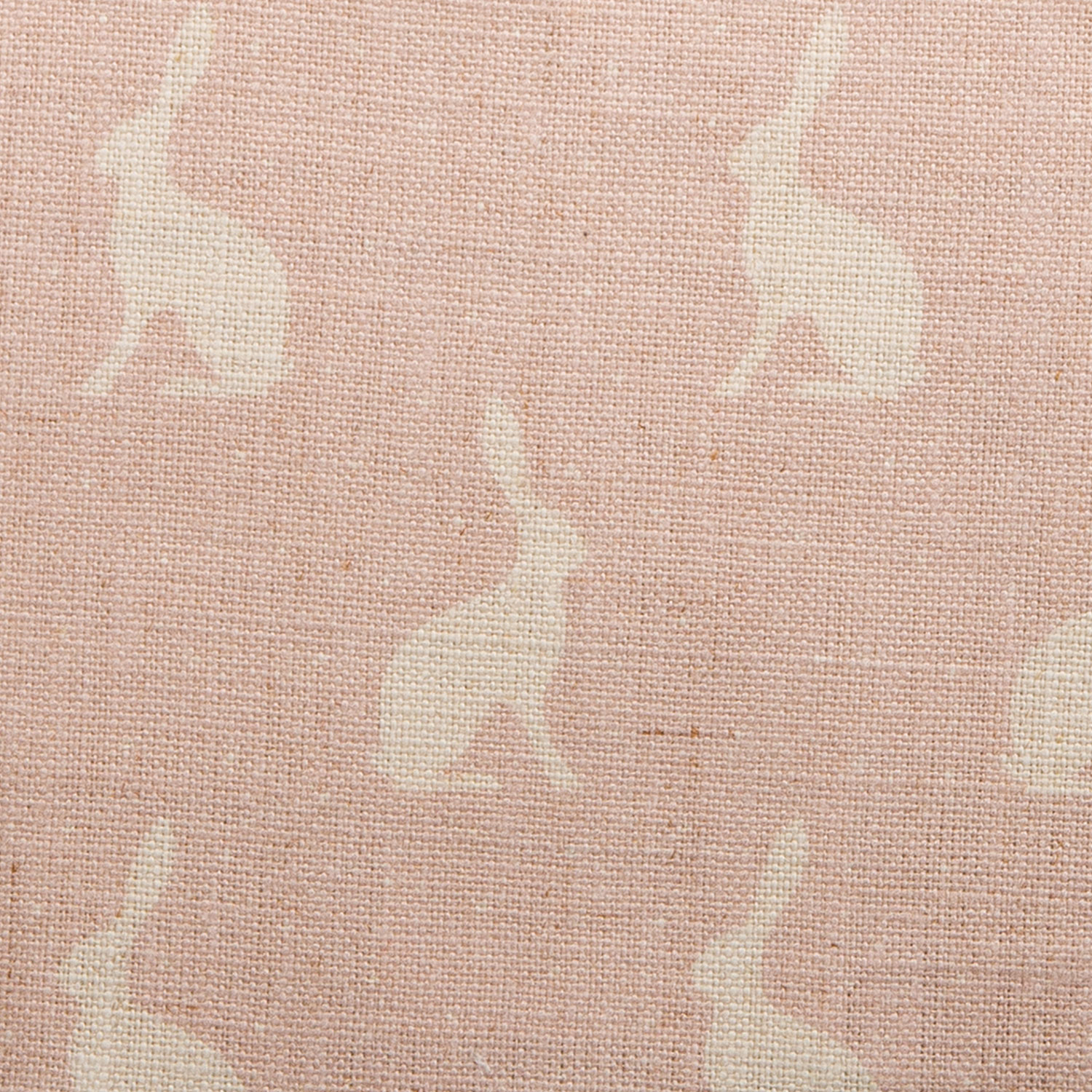 Mini Hares, Pale Pink Icing on Chunky Linen