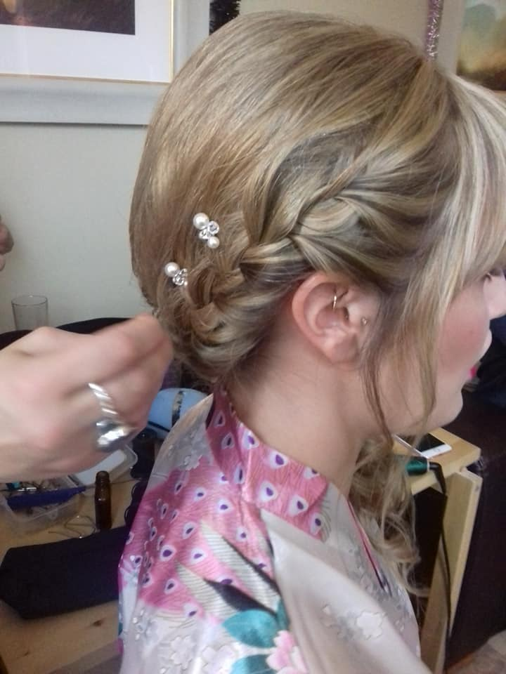 Bridal Updo with Delicate Details