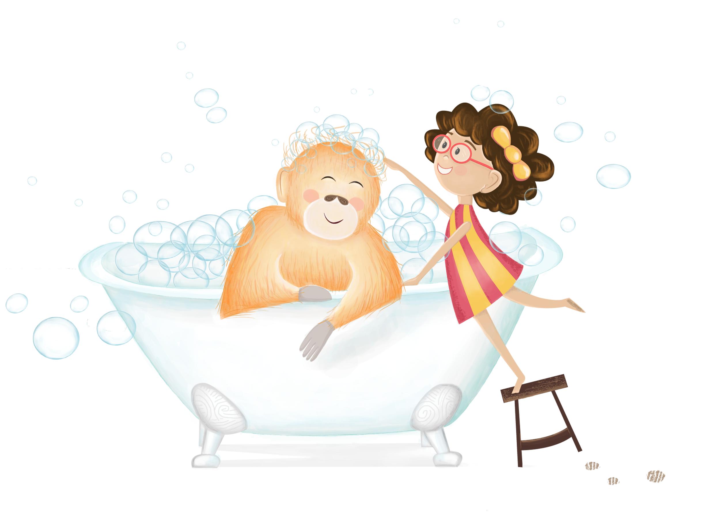 Orangutan's Bathtime   2017