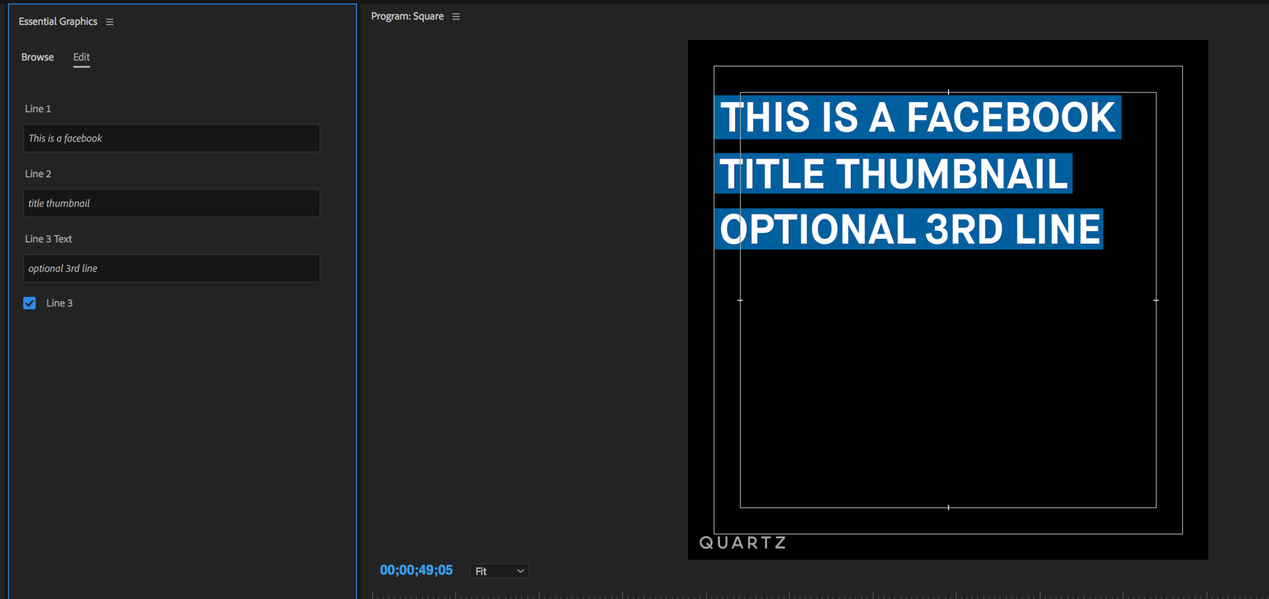 You can check the box to create a 3rd line and the blue bars automatically resize to fit the text editors type in.