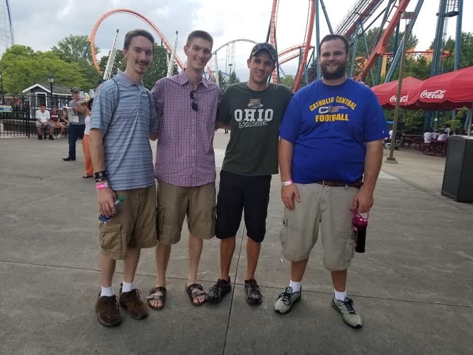 Seminarians at Cedar Point on Labor Day.jpg