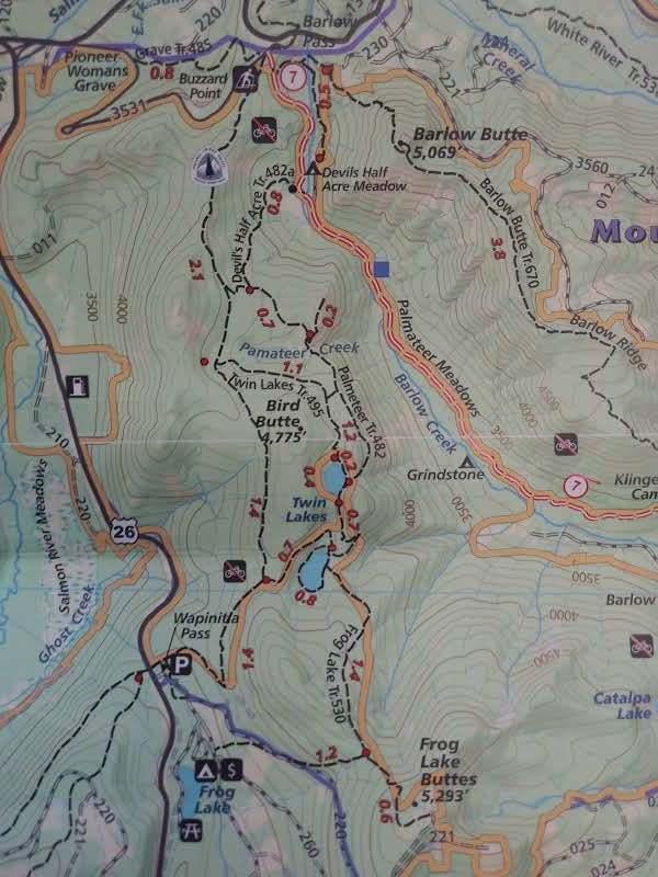 Wapinitia Pass to Barlow Pass -