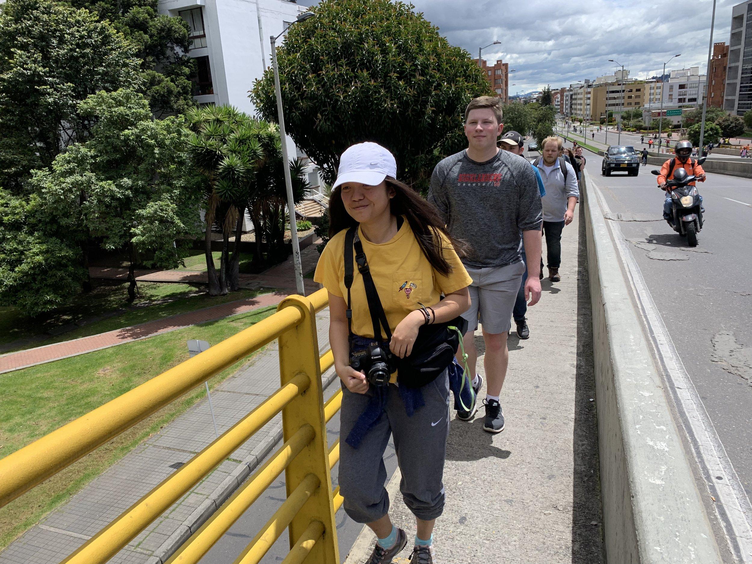 Walking to Usaquén
