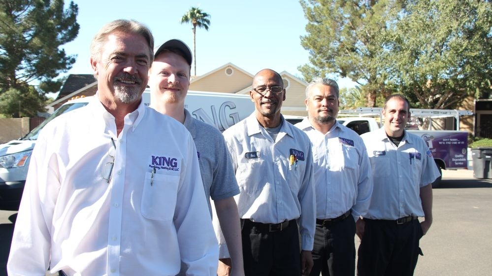 The team is ready to meet your heating, cooling, and plumbing needs.