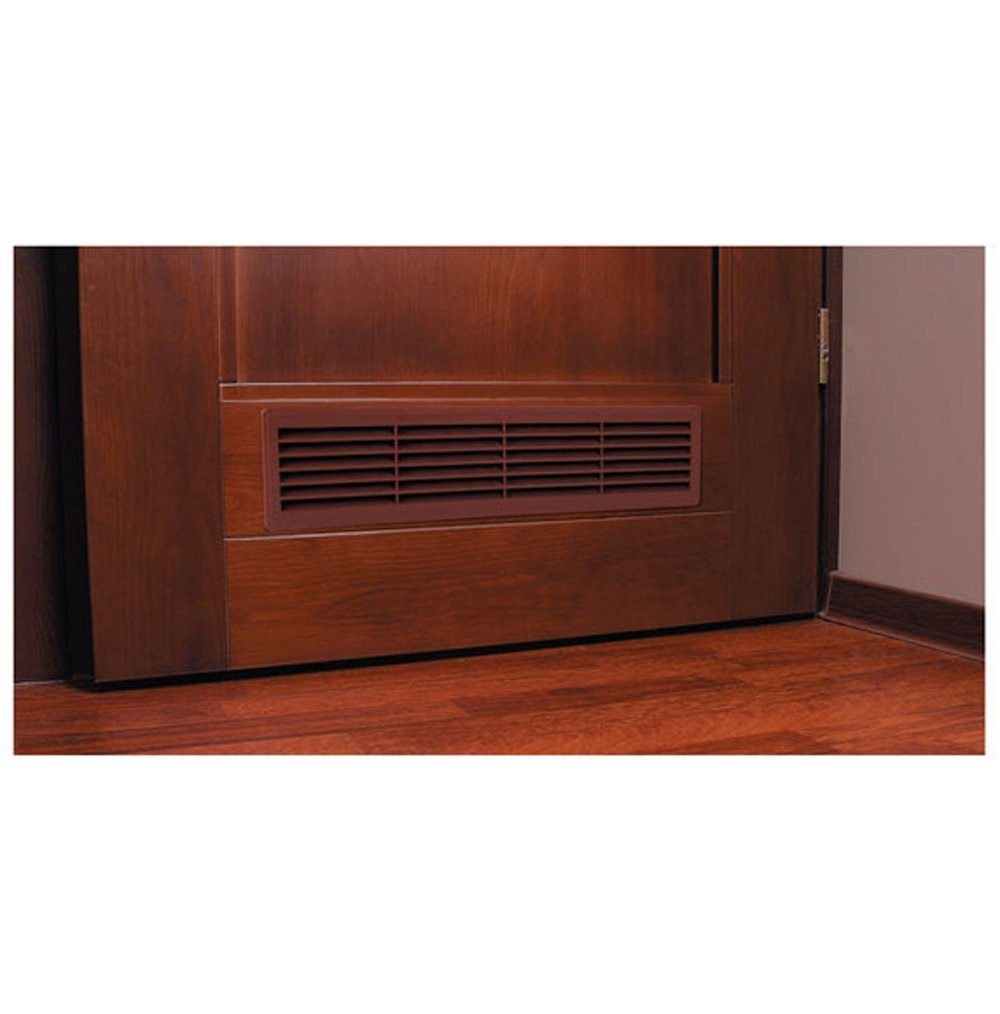 A door grille solves the privacy issue and still allows airflow.
