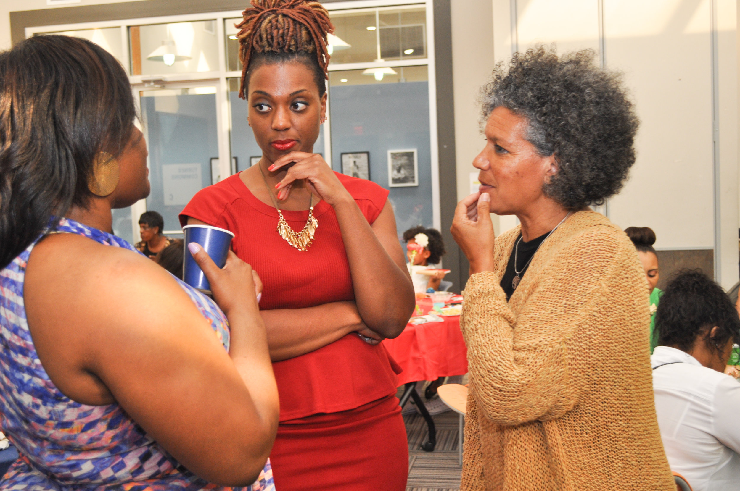 Work alongside other women of color centering our experiences & maximizing our impact . -