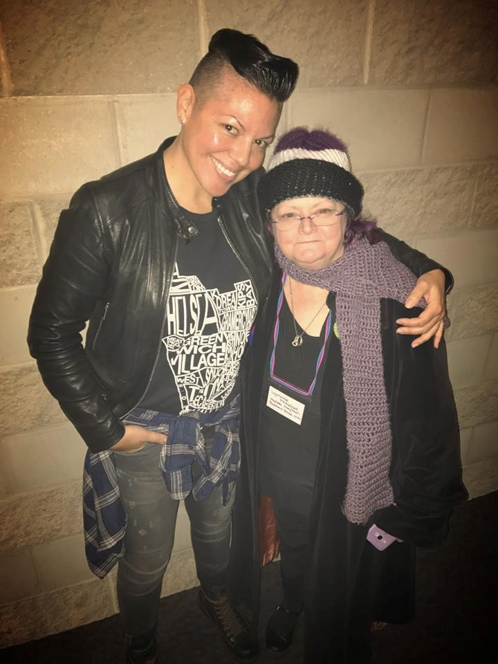 Lynnette with Sara Ramirez at BECAUSE 2017.jpg