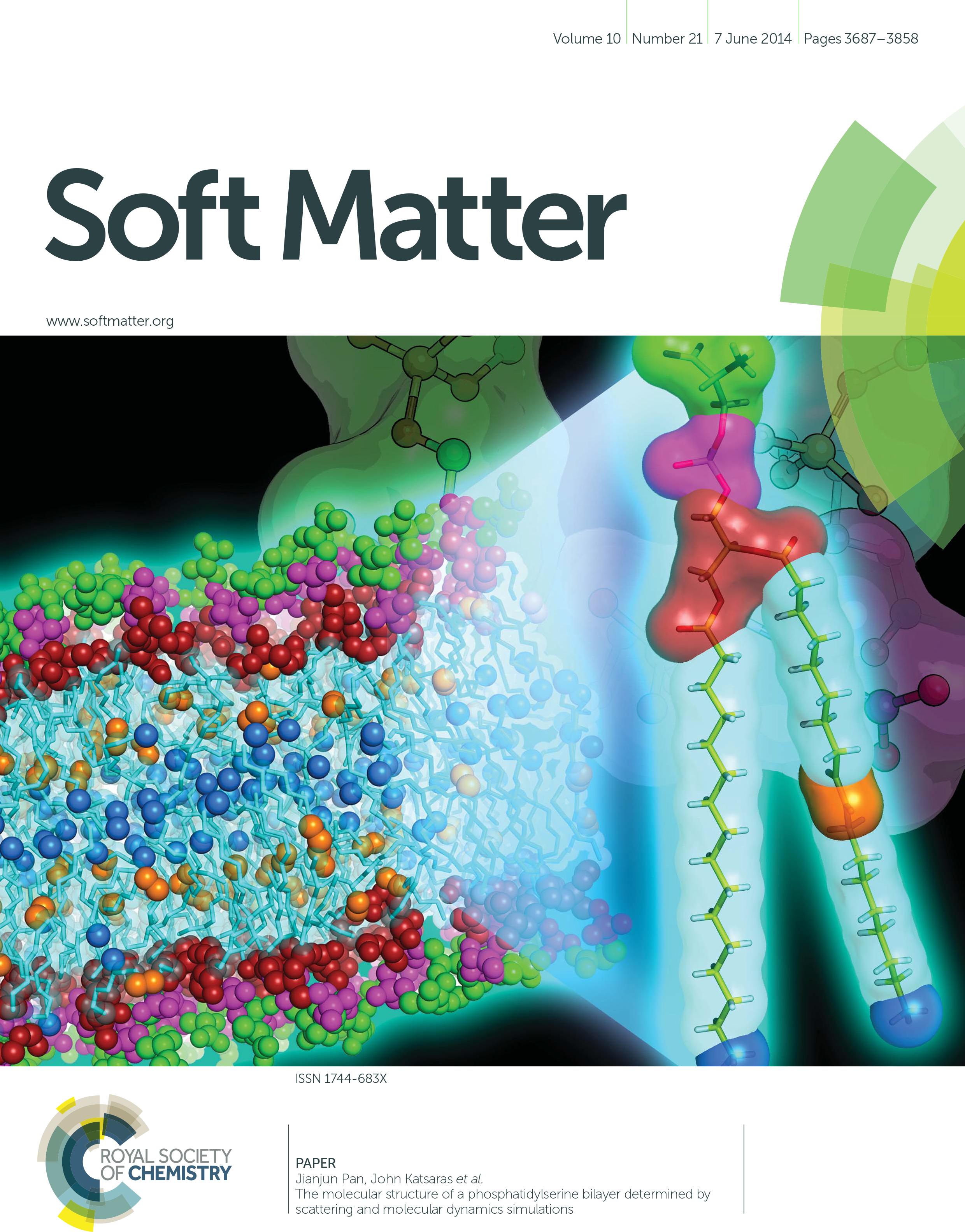 Pan et al. 2014 Soft Matter 10:3716