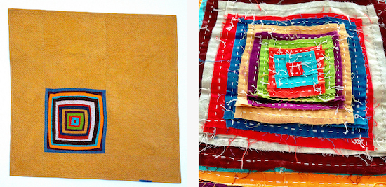 """Completely Cauchy, 2014, """"In Wedowee…"""" finished and in progress."""
