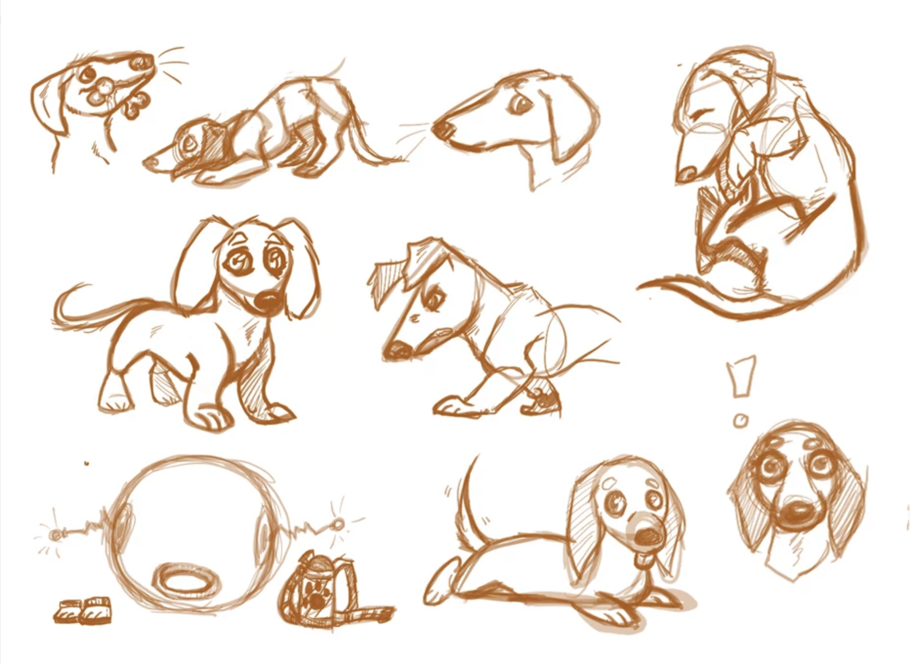 Space Dog Cadet Sketches