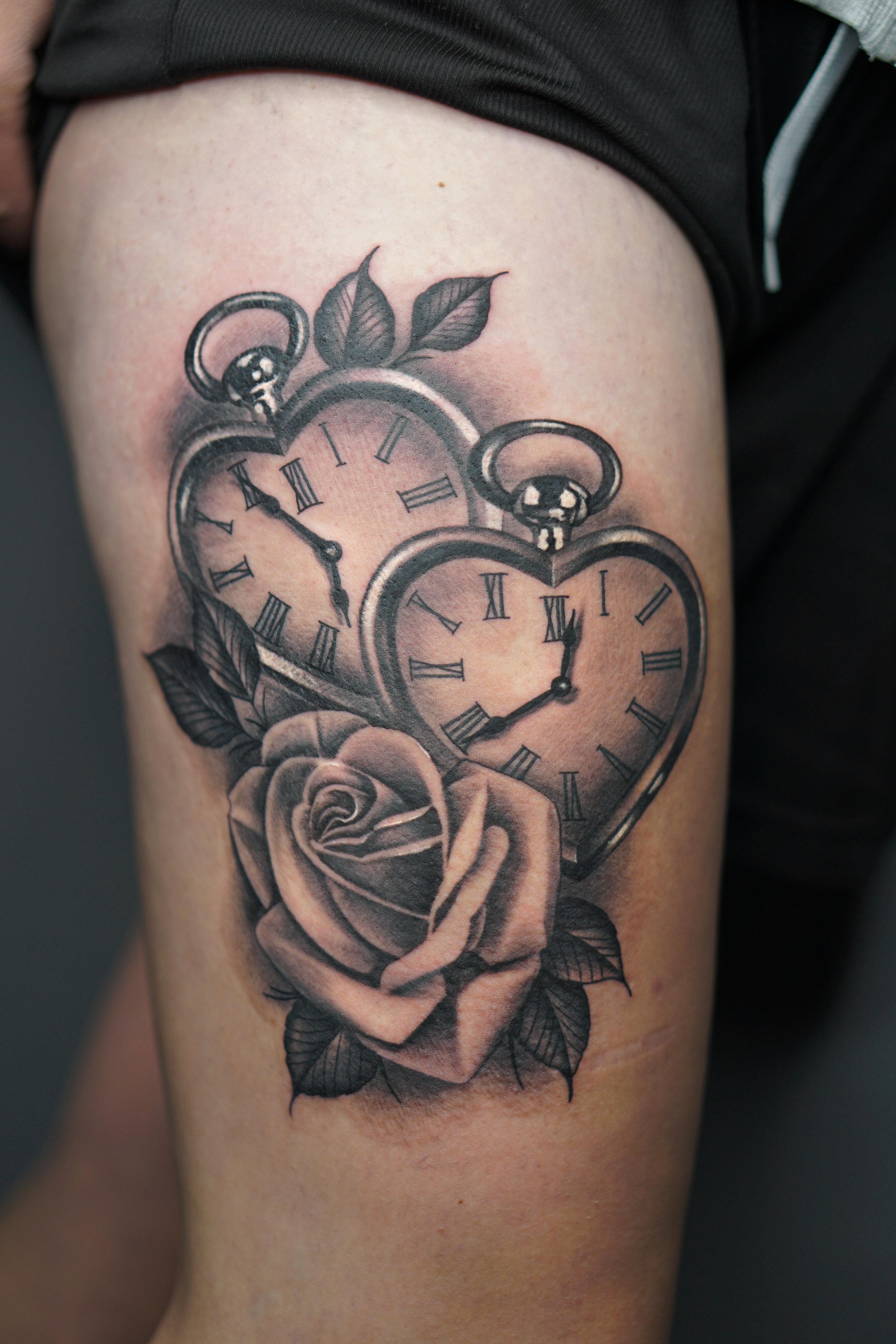 #blackhopetattoo #tattoo #hearttattoo pocketwatchtattoo #rosetattoo.jpg