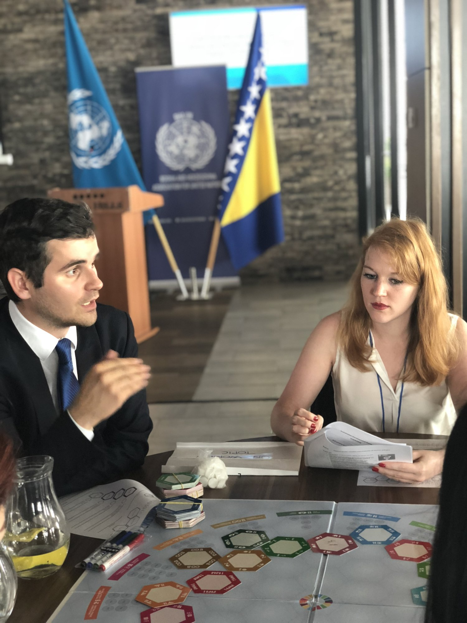 From left to right:  Mak Selimović, President, Bosnia and Herzegovina Association for United Nations  J.H., Sarajevo Model UN '18 Conference Participant