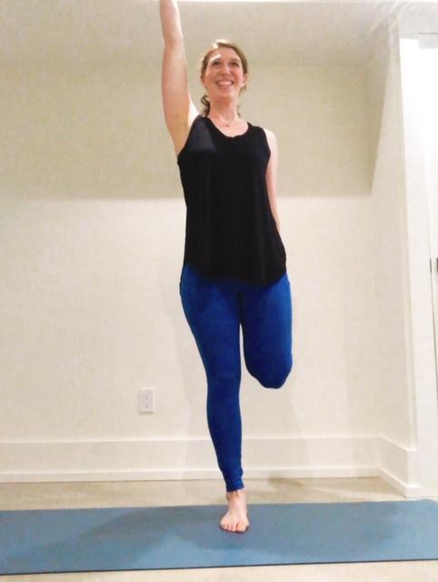 standing quadriceps stretch -