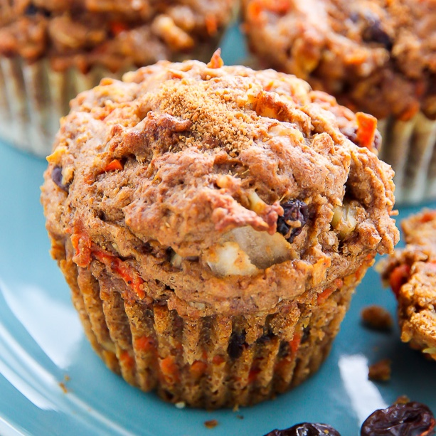 Morning Glory Muffins - the perfect way to start your daybakerbynature.com