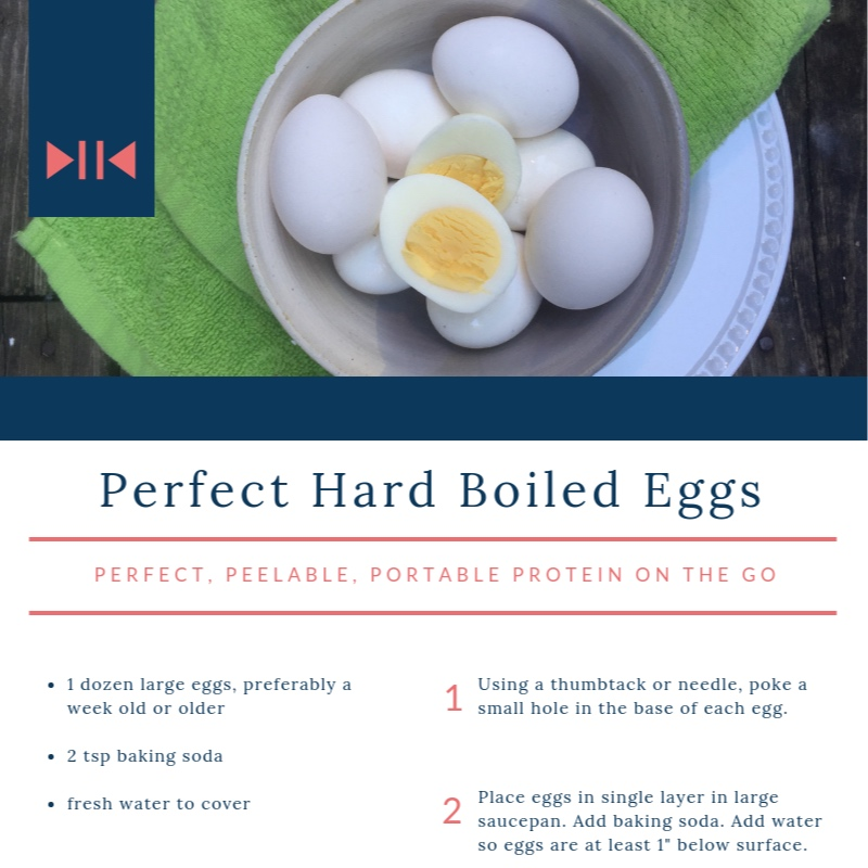 Perfect Hard Boiled Eggs - No grey, no-stink portable protein.