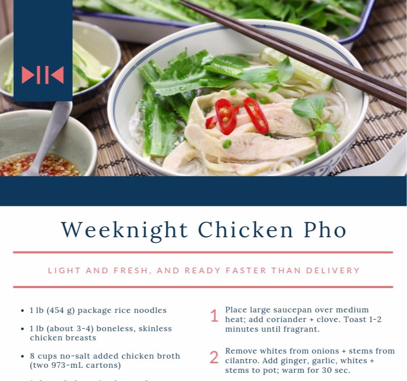 Weeknight Chicken Pho - light + fresh, plus faster than delivery