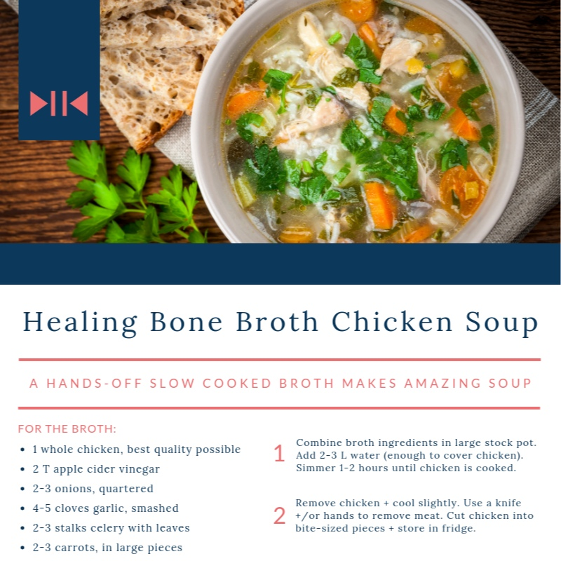 Healing Chicken Soup - A hands-off, slow-cooked, amazing soup