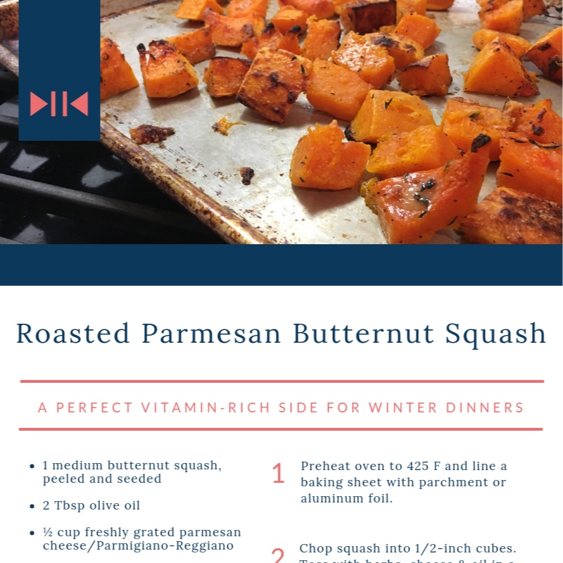 Parmesan Roasted Squash - A savory, vitamin-rich side DISH for dinner.
