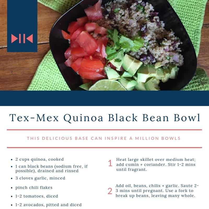 Tex-Mex Quinoa Black Bean Bowls - the perfect blank slate for mix + match bowls