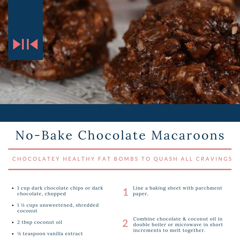 No Bake Chocolate Macaroons - chocolatey healthy fat bombs to quash all cravings