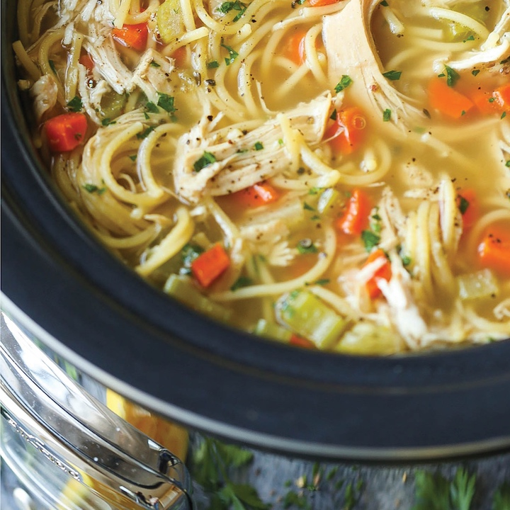 Slow Cooker Chicken Noodle - skip the canned stuff with this easy recipedamndelicious.net