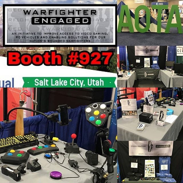 We are here in SLC for AOTA! Swing by booth 927 and let us show you how we get everyone back into gaming! #AOTA18 #warfighterengaged #adaptivegamer #xbox #ps4 #nintendo